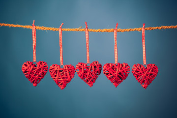 decorative valentine hearts