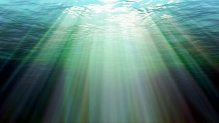 aurora under water