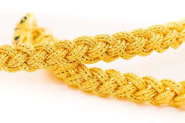 braid gold bracelet