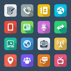 media flat colors iconset