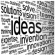 """IDEAS"" Tag Cloud (innovation solutions strategy creativity)"