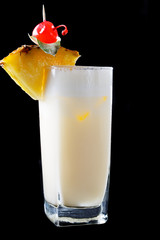 Tall glass of Pina Colada Cocktail