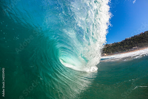 Ocean Wave Crashing Hollow Coastline