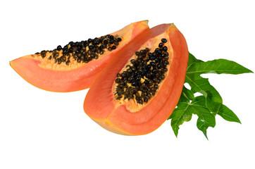 Sweet papaya on isolate.