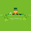 Leprechaun & Symbols Saint Patrick´s Day Green