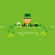 Leprechaun & Symbols Saint Patrick´s Day Green