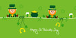 Saint Patrick´s Day 2 Leprechauns & Symbols Green