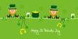 Saint Patrick´s Day 2 Leprechauns & Symbols Green