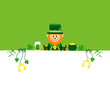 Leprechaun & Symbols Saint Patrick´s Day Background