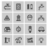 vector power and energy icons