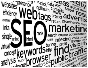"""SEO"" Tag Cloud (search engine optimization visibility traffic)"