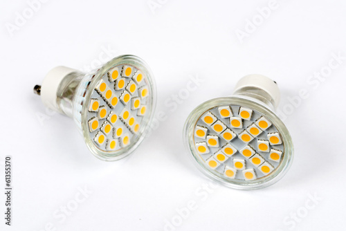 Led SMD light bulb isolated on white background