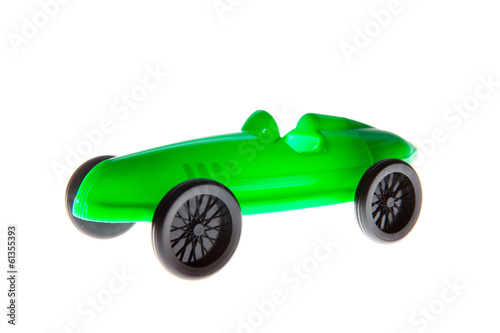 Green Toy Car isolated on white