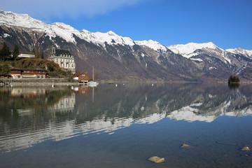 Iseltwald am Brienzer See. Berner Oberland