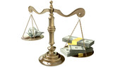 Inequality Scales Of Justice Income Gap USA poster