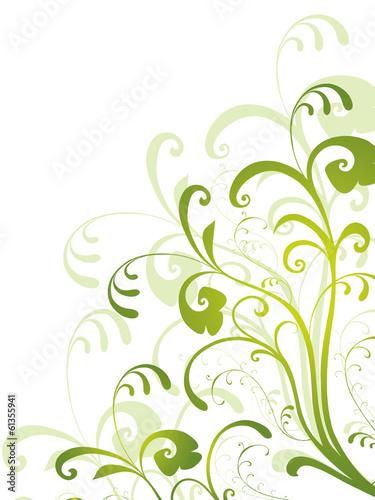 Floral gr n fr hling rahmen filigran deko dekor for Deko rahmen