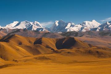 Mountainous Terrain Himalayas Border Nepal Tibet