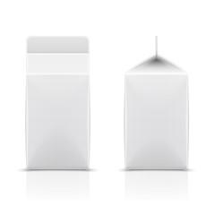 White cardboard milk package.