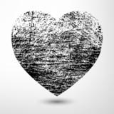 Black Grunge Heart - 61357780