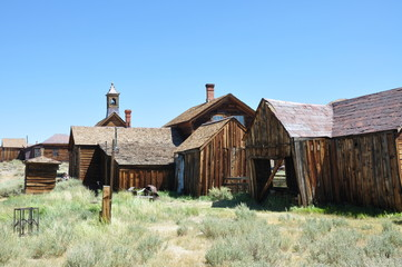 Wooden houses, Bodie ghost town