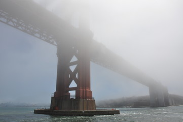 Golden gate in the myst, San Francisco CA