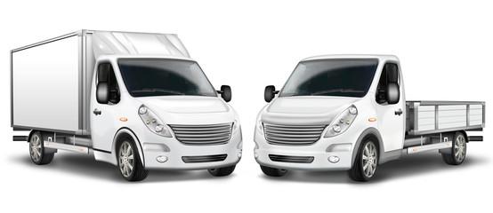 Zwei Kleintransporter, Kastenwagen und Pritschenwagen