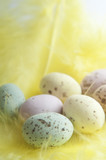 Easter Egg Sweets on Feather