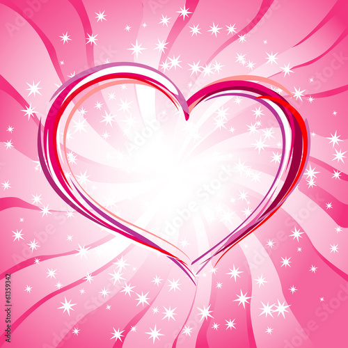Magic light - background for Valentine's day