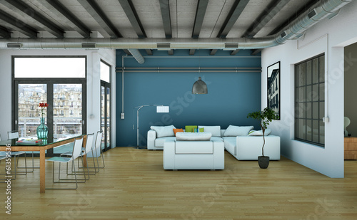 canvas print picture modernes Loft