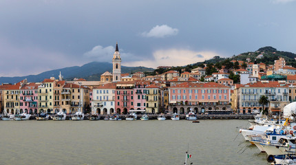 Italy - Mediterranean. Ligurian coast, the port Oneglia