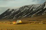 Iceland Mountain and house