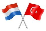 Flags: Luxembourg and Turkey