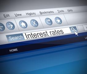 Interest rates concept.