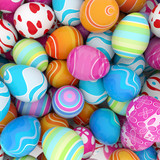 Fototapety background of colorful Easter eggs
