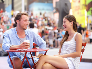 Dating couple, New York, Manhattan, Times Square