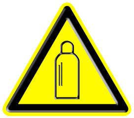 Danger of gas bottles