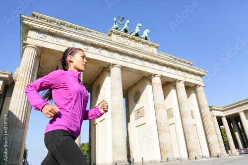 Running woman in Berlin, Germany