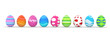colorful easter eggs in a row - 61361591