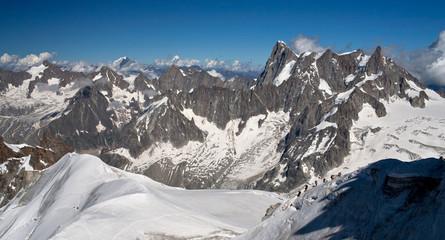 Mer de glass. Glacier. Alps. Mountains.