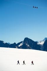 Mer de glass. Glacier. Alps. Mountains. MontBlank.