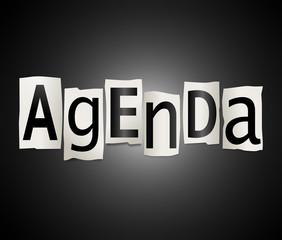 Agenda concept.
