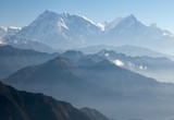 Blue horizons - view of Annapurna Hima