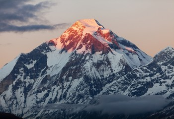 Evening view of mount Dhaulagiri - Nepal