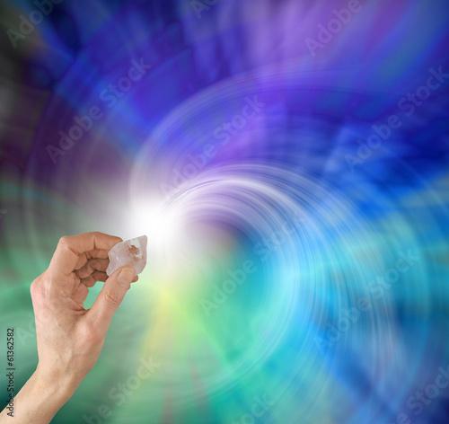 Foto op Aluminium Edelsteen New age crystal healer