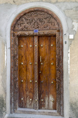 Old wooden door in Stone Town, Zanzibar