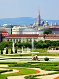 View over the gardens of Vienna, Austria