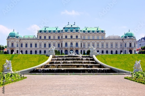 Belvedere Palace and fountains, Vienna, Austria