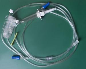 IV Catheter On Green