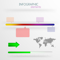 3d paper infographic elements for design. timeline template
