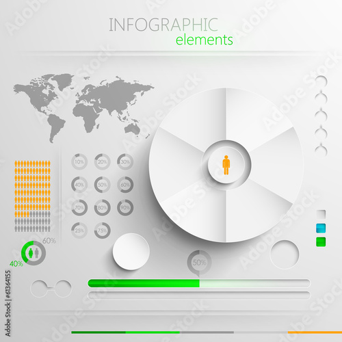 paper infographics for print or web design